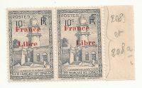 Timbre Côte des Somalies-France Libre